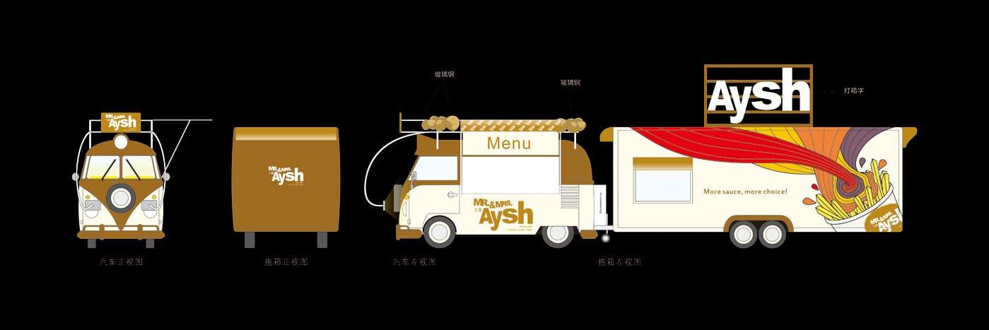 艾薯车体广告