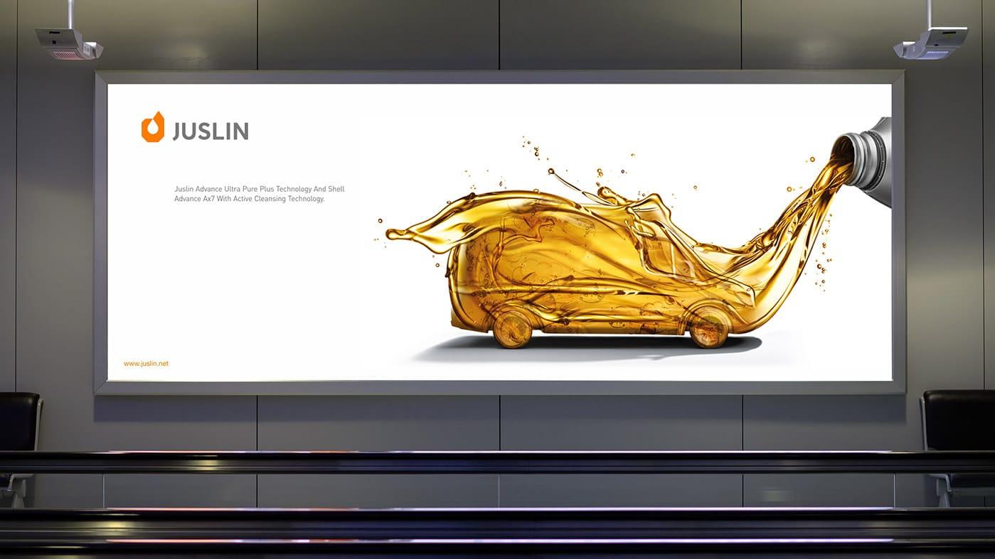润滑油海报广告应用