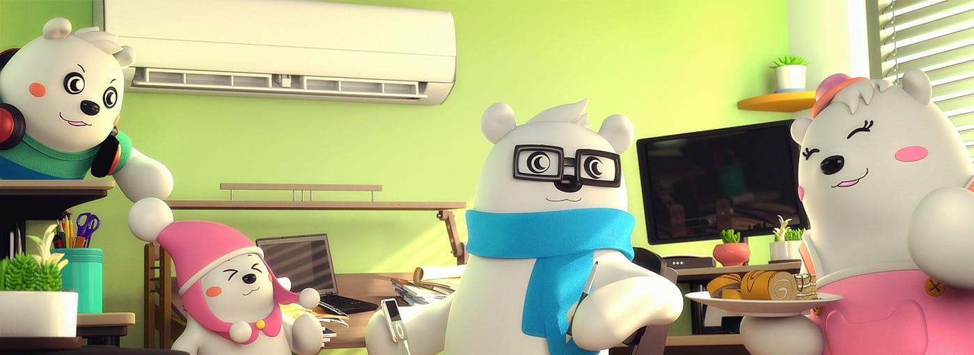 美的空调吉祥物创意广告07