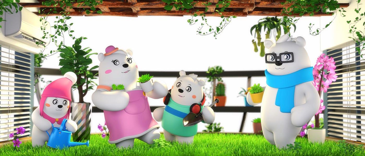 美的空调吉祥物创意广告08