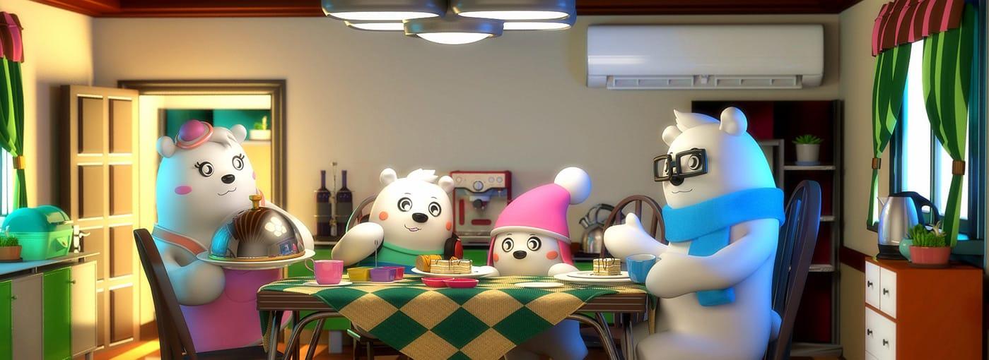 美的空调吉祥物创意广告10